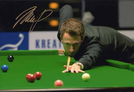 Judd Trump, signed 12x8 inch photo.